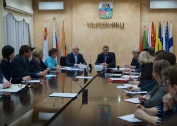 Встреча с профсоюзами образования г. Череповца