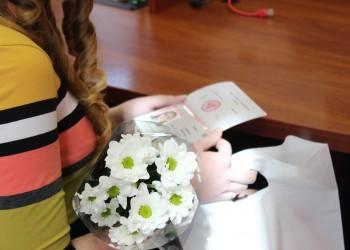 Вручение паспортов школьникам Череповца